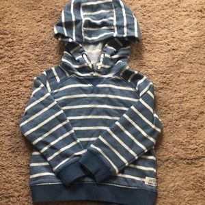 Carter's striped hooded sweatshirt
